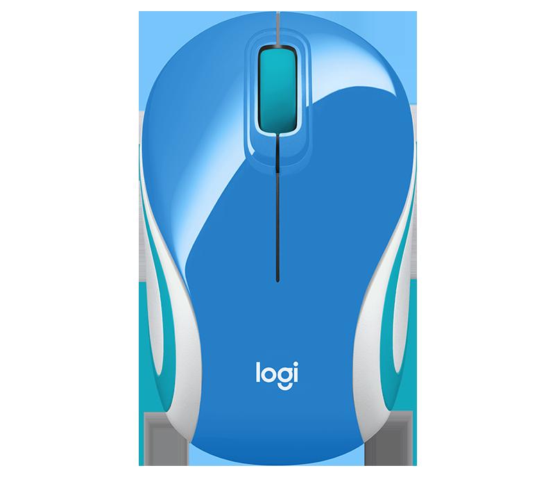 myš Logitech Wireless Mini Mouse M187 modrá - 910-002733