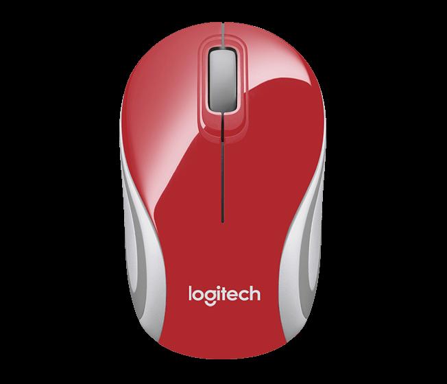 myš Logitech Wireless Mini Mouse M187 červená