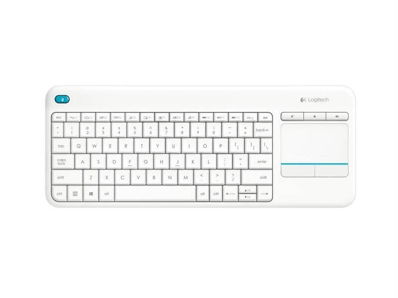 PROMO Logitech Wireless Touch Keyboard K400 plus,USB,CZ,White