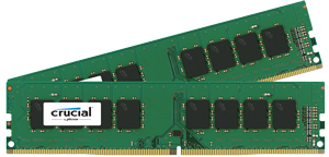 8GB DDR4 - 2133 MHz Crucial CL15 SR x8 DIMM kit, 2x4GB