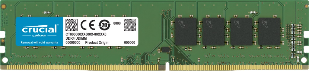 16GB DDR4 3200MHz Crucial CL22 Crucial - CT16G4DFRA32A