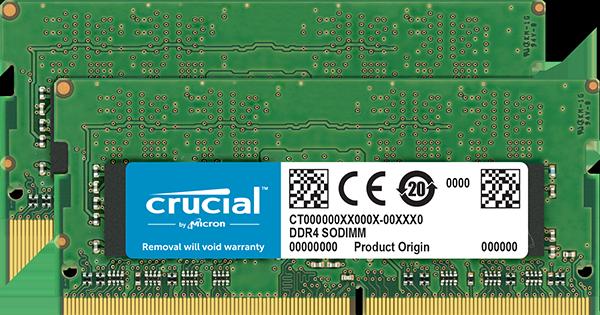 SO-DIMM 16GB DDR4 2666MHz Crucial CL19 2x8GB