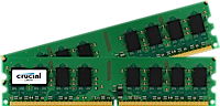 2GB DDR2-800 MHz Crucial CL6, kit 2x1GB