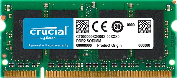 SO-DIMM 2GB DDR2-667 MHz Crucial CL5