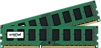 16GB DRR3L - 1866 MHz Crucial CL13 UDIMM kit 1.35V/1.5V, 2x8GB