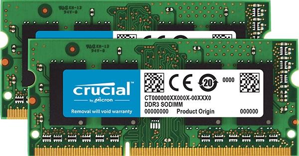 SO-DIMM 4GB DDR3L 1600MHz Crucial CL11 2x2GB