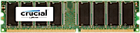 512MB DDR-400MHz Crucial CL3 UDIMM