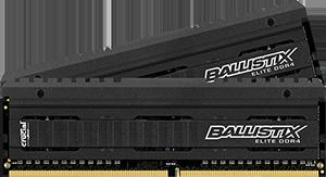 16GB DDR4-2666MHz Crucial Ballistix Elite CL16 DRx8, kit 2x8GB
