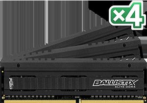 32GB DDR4-2666MHz Crucial Ballistix EliteCL16 DRx8, kit 4x8GB