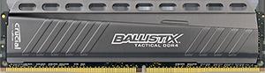 4GB DDR4-2666MHz Crucial Ballistix Tactical CL16 SRx8