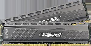 16GB DDR4-2666MHz Crucial Ballistix Tactical CL16 DRx8, kit 2x8GB