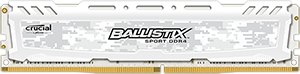 16GB DDR4 - 2400 MHz Crucial Ballistix Sport LT White CL16 DR x8 DIMM