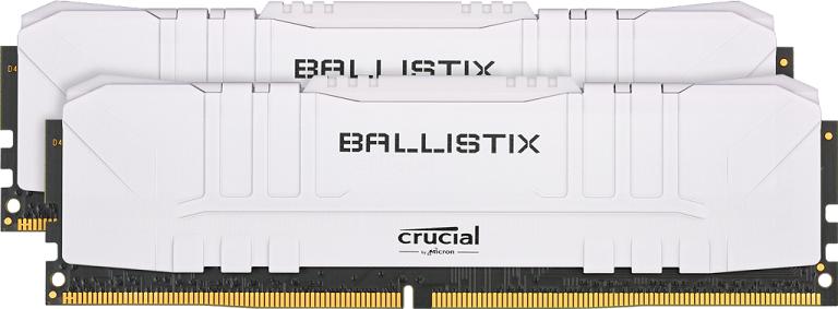32GB DDR4 3000MHz Crucial Ballistix CL15 2x16GB White