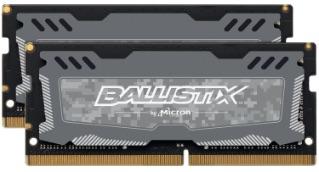 SO-DIMM 32GB DDR4 2666MHz Crucial Ballistix Sport LT CL16 2x16GB Grey