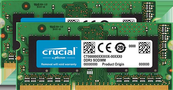SO-DIMM 8GB DDR3L 1600MHz Crucial CL11 2x4GB 1,35V/1,5V pro MAC