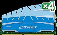 16GB DDR3 - 1866 MHz Crucial Ballistix Sport XT CL10 UDIMM 1.5V, 4x4GB