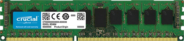 8GB DDR3L 1600MHz Crucial ECC 240pin 1,35V
