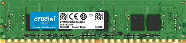 4GB DDR4 2666MHz Crucial CL19 ECC Registered DIMM