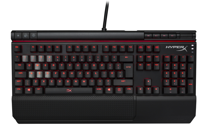 HyperX Alloy Elite herní mechanická klávesnice, červené MX spínače