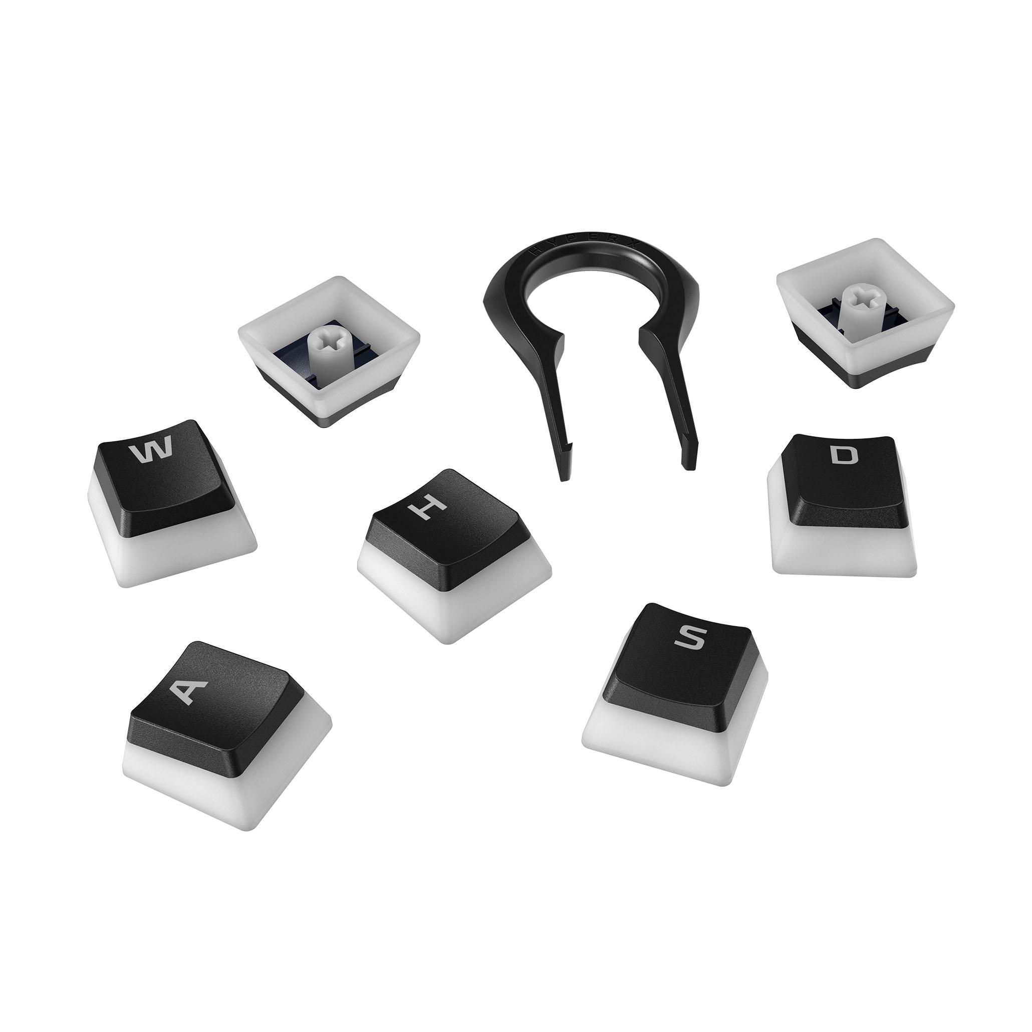 HyperX Pudding Keycaps US black PBT - plná sada kláves - HKCPXP-BK-US/G