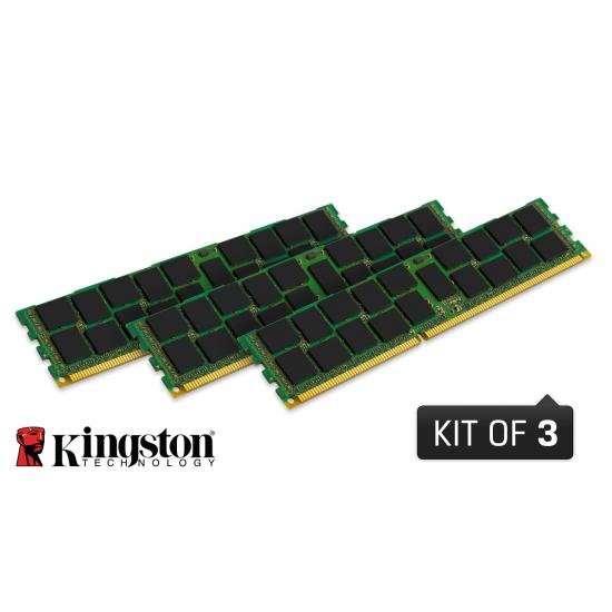 24GB DDR3-1600MHz Kingston ECC Reg CL11 1Rx4,3x8GB