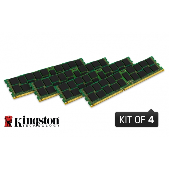 32GB DDR3-1600MHz Kingston ECC Reg CL11 1Rx4 4x8GB