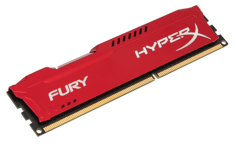 4GB DDR3-1600MHz Kingston HyperX Fury Red - HX316C10FR/4