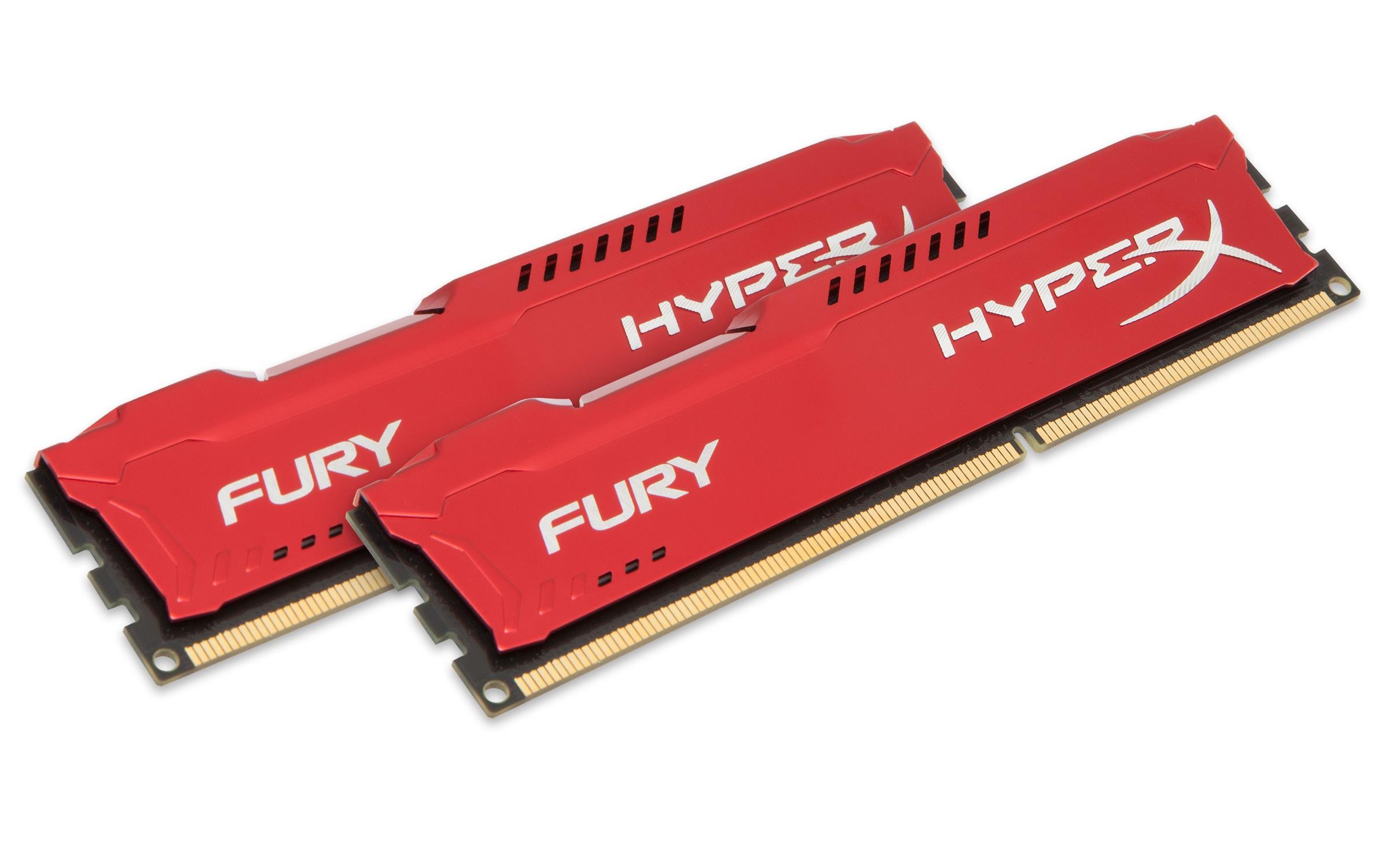 8GB DDR3-1866MHz Kingston HyperX Fury Red, 2x4GB