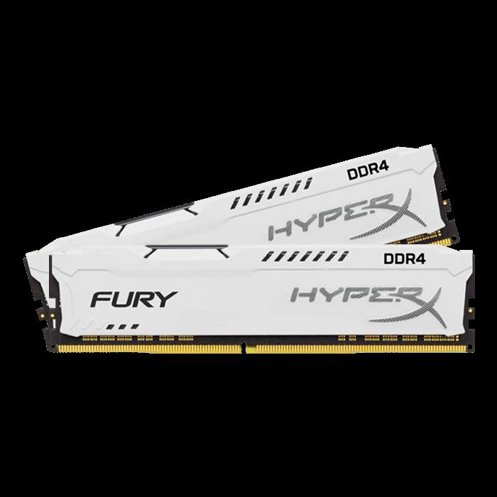 32GB DDR4 2400MHz CL15 DIMM HyperX FURY White, 2x16GB