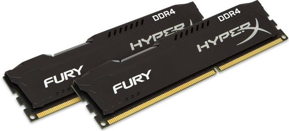32GB DDR4 2666MHz CL16 DIMM HyperX FURY Black, 2x16GB