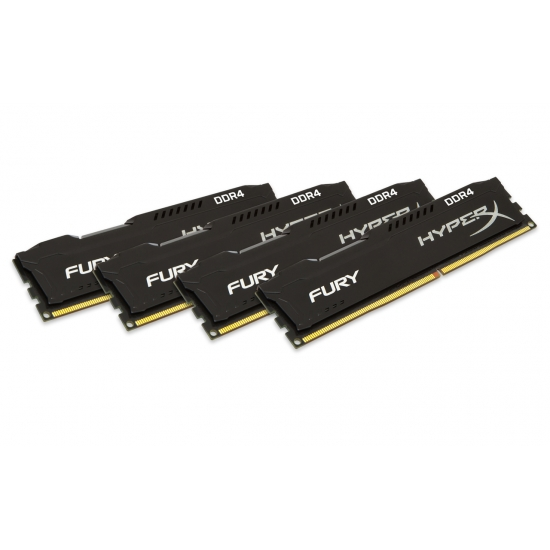 16GB 2933MHz DDR4 CL17 HyperX FURY Black, 4x4GB