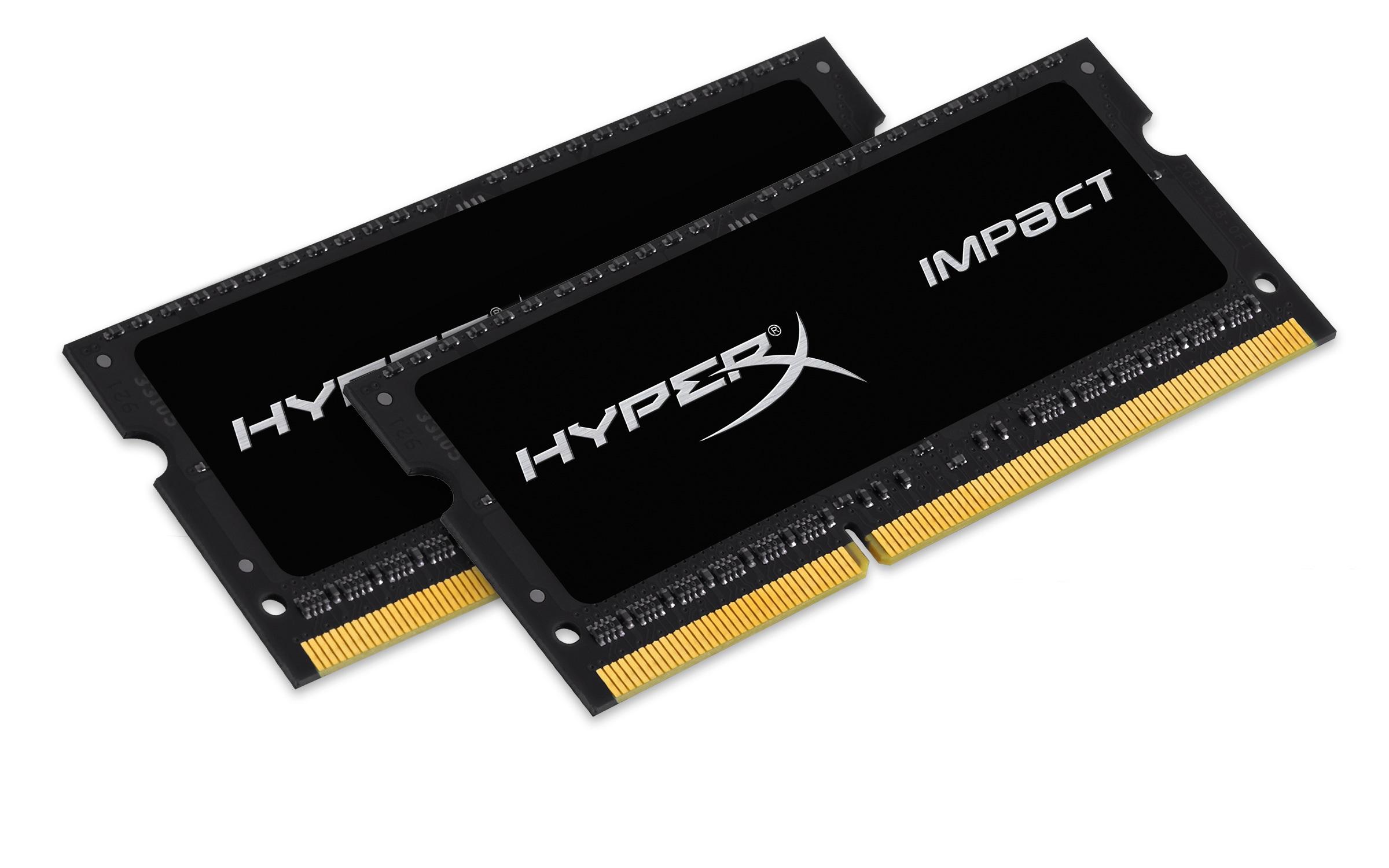 SO-DIMM 16GB DDR3L-1600 HyperXImpact,1.35V,2x8GB - HX316LS9IBK2/16