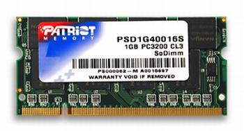 SO-DIMM 1GB DDR 400MHz Patriot CL3