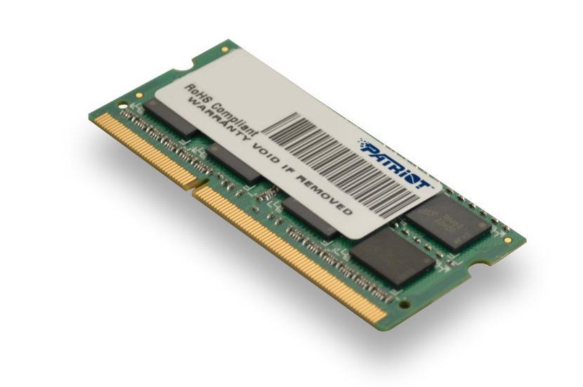 Patriot 4GB SO-DIMM  DDR3-1333MHz  1,35V SR