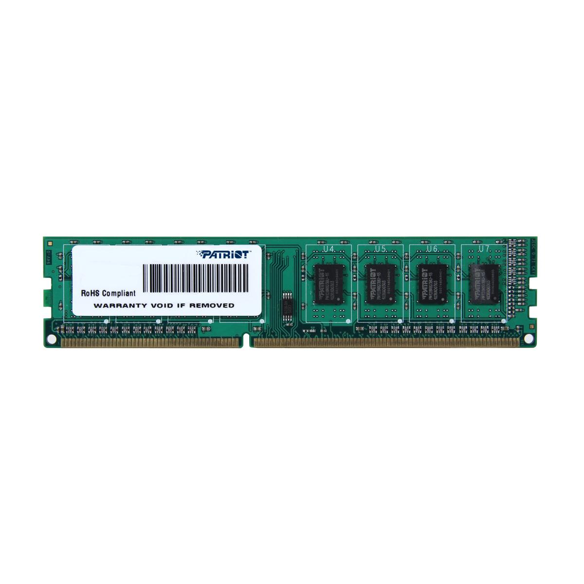 2GB DDR3 1600MHz Patriot CL11 single rank