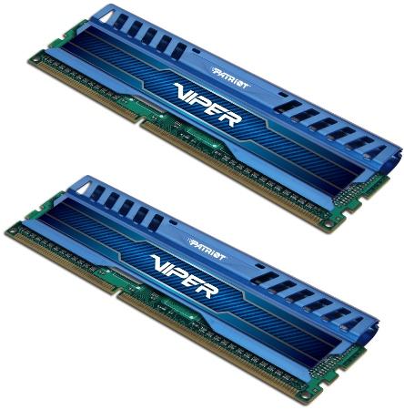 Patriot DD3 16GB KIT(1600Mhz)Viper3,Sapp Blue,CL10