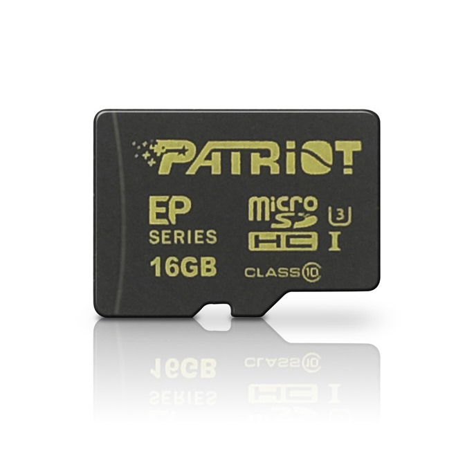PATRIOT 16GB microSDHC CL10 UHS-I 90/45