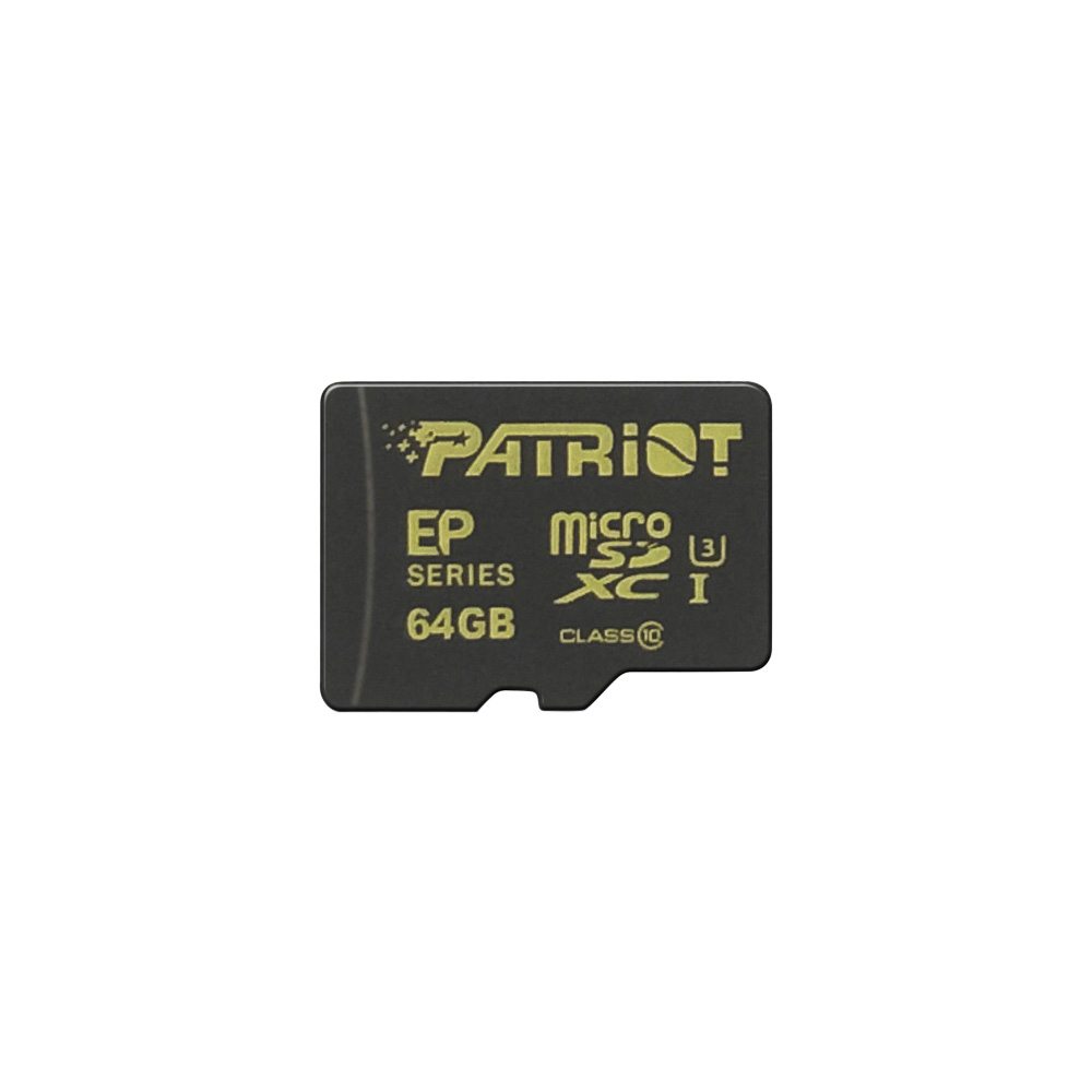 PATRIOT 64GB microSDXC CL10 UHS-I 90/45