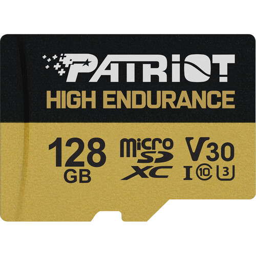 128GB microSDXC Patriot Hight Endurance V30 U3 až 95MB/s - PEF128GE31MCH