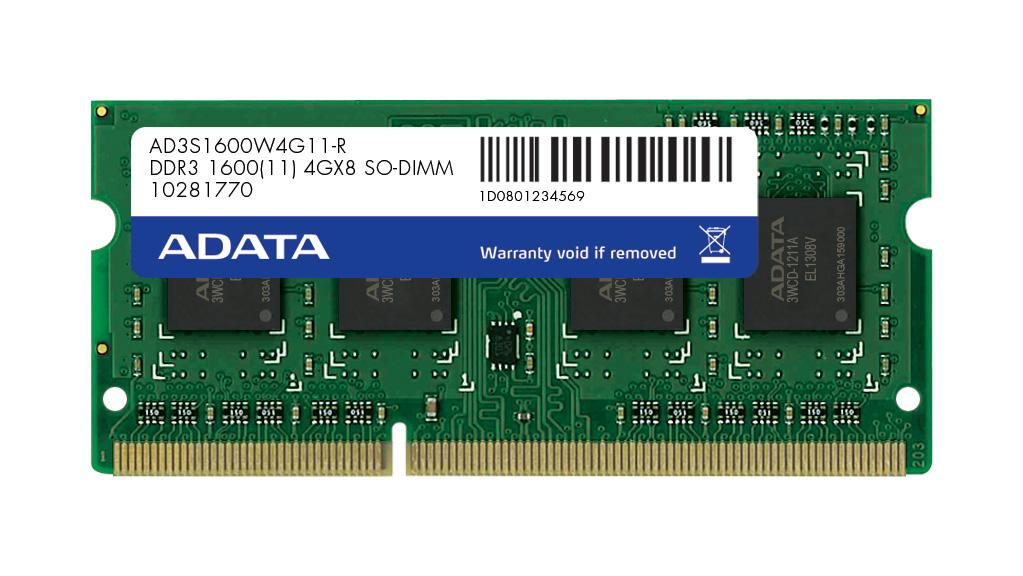 SO-DIMM 2GB DDR3 1600MHz CL11 ADATA