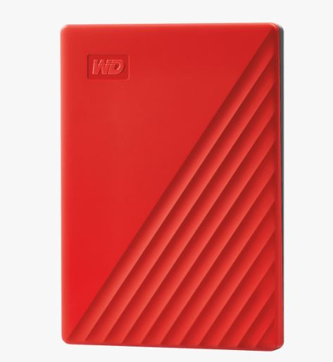 Ext. HDD 2,5'' WD My Passport 2TB USB 3.0. červený - WDBYVG0020BRD-WESN