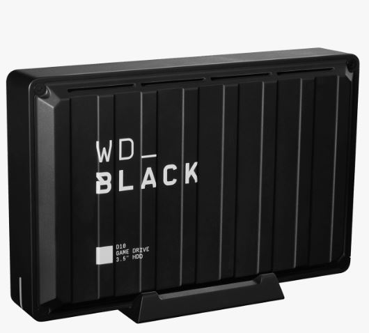 Ext. HDD 3,5'' WD_BLACK 8TB D10 P10 Game Drive - WDBA3P0080HBK-EESN