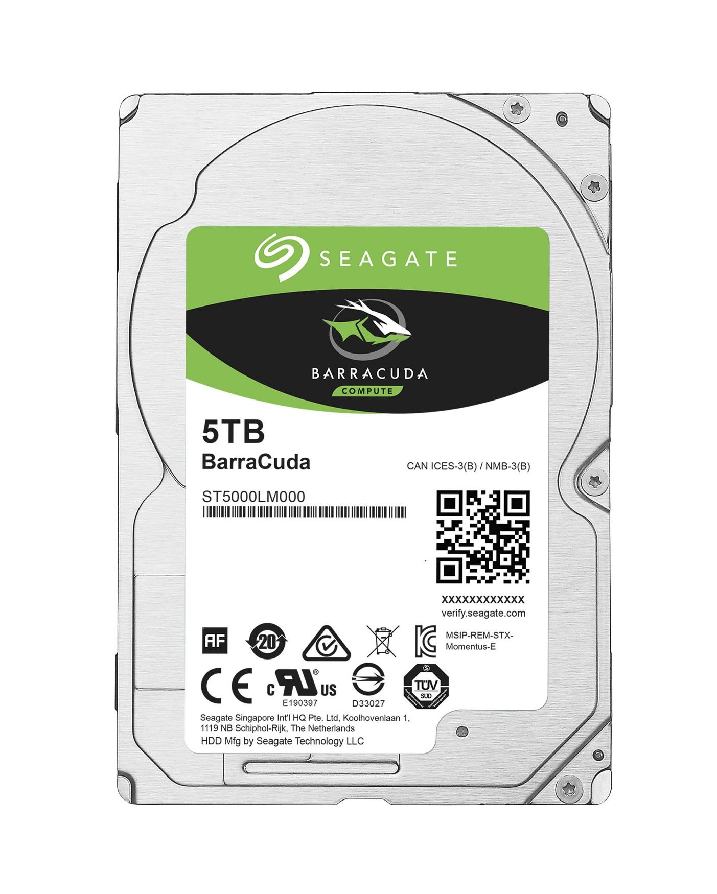 HDD 2,5'' 5TB Seagate BarraCuda 128MB SATAIII 5.4k - ST5000LM000