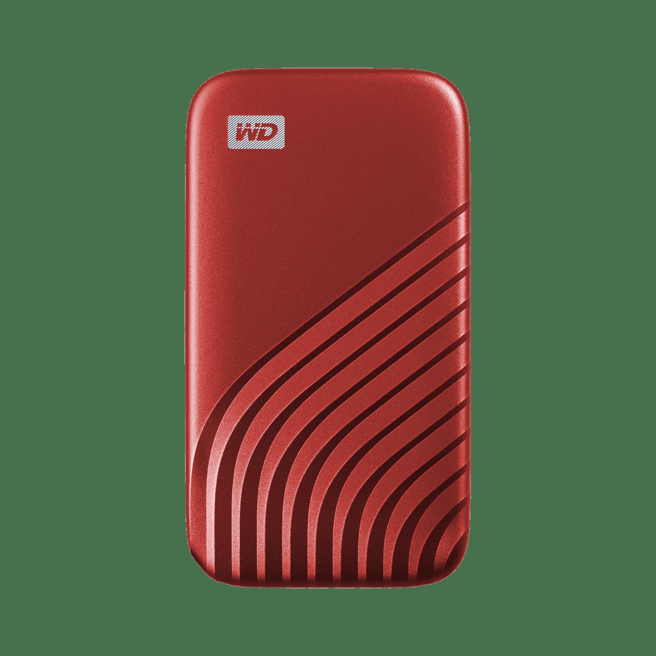 Ext. SSD WD My Passport SSD 500GB červená - WDBAGF5000ARD-WESN