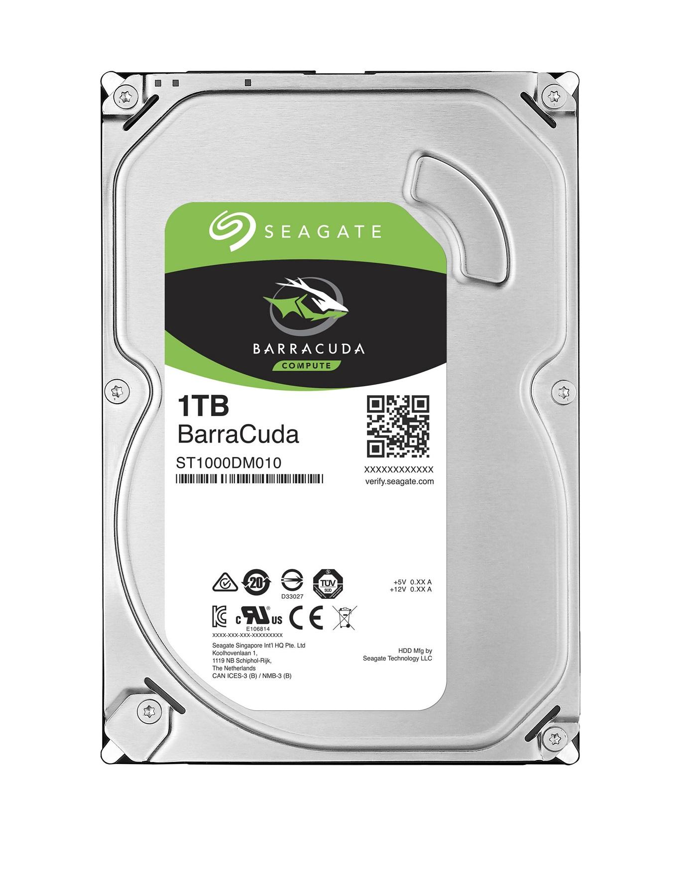 HDD 1TB Seagate BarraCuda 64MB SATAIII 7200rpm 2RZ - ST1000DM010