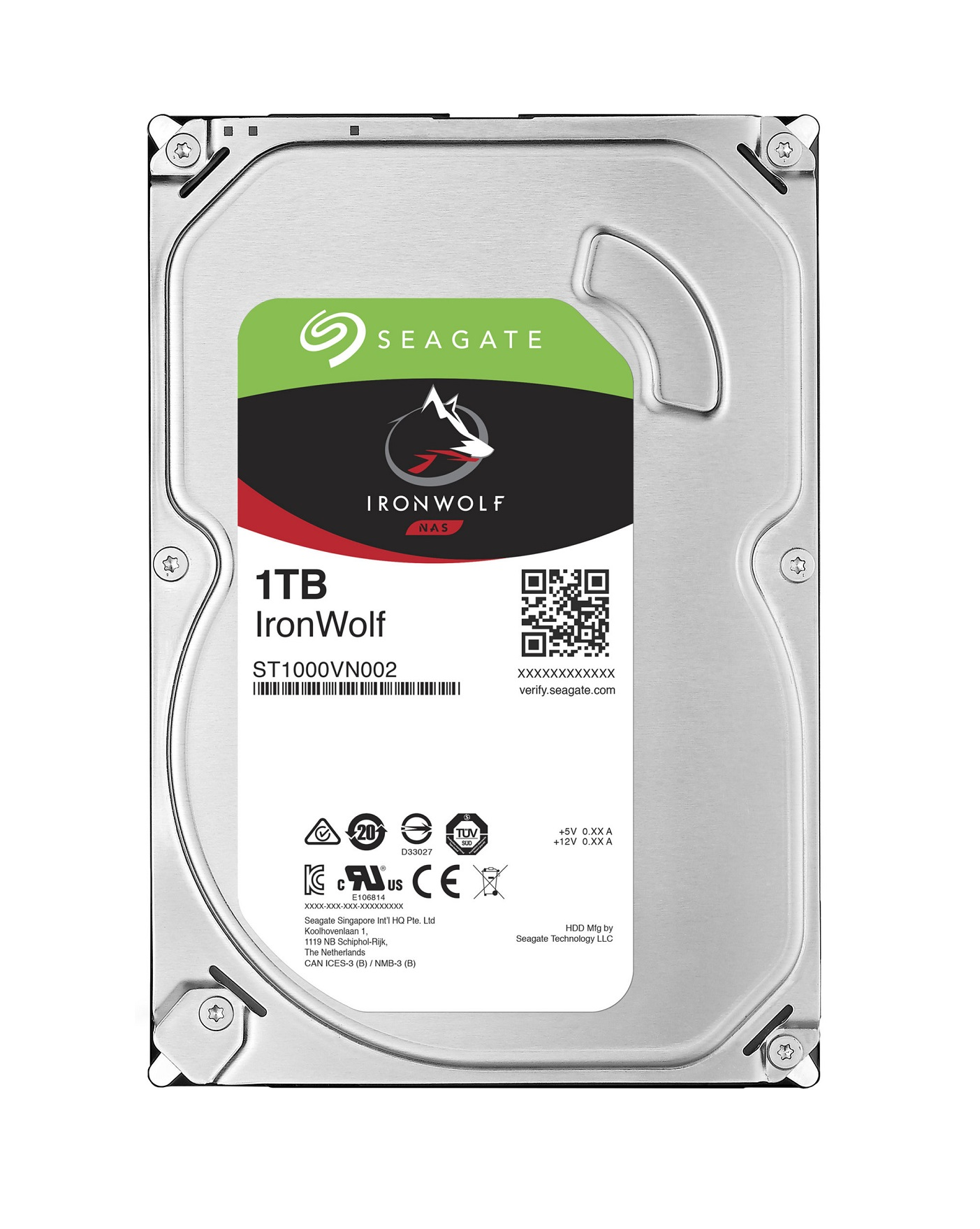 HDD 1TB Seagate IronWolf 64MB SATAIII 5900rpm NAS - ST1000VN002