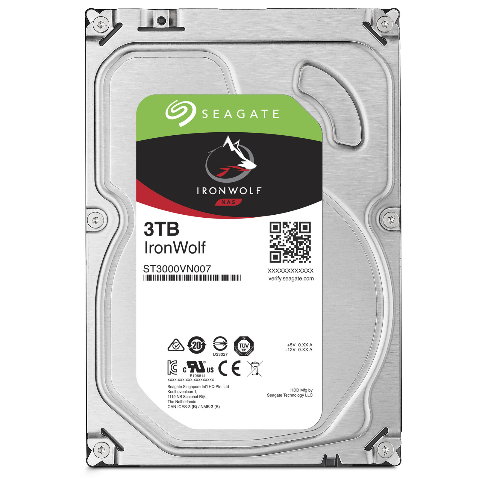HDD 3TB Seagate IronWolf 64MB SATAIII 5900rpm NAS - ST3000VN007
