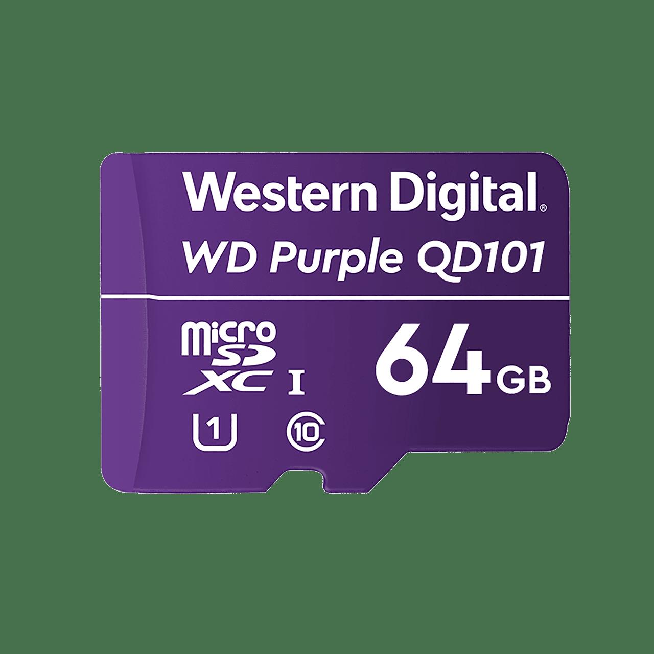 WD Purple microSDXC 64GB Class 10 U1 - WDD064G1P0C