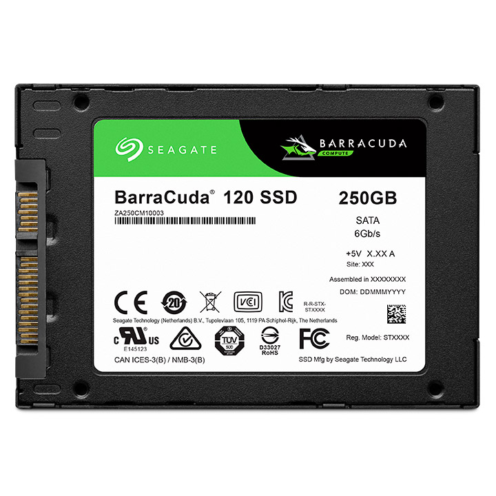 SSD 2,5'' 250GB Seagate BarraCuda 120 SSD SATAIII