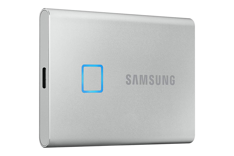 SSD 500GB Samsung externí T7 Touch, stříbrný